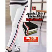 Legging Anak Strip Random Usia 5-10th Bahan spandex