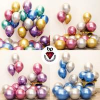 Balon Latex Metalik Chrome / Balon Chrome 12inch Per Pack isi 50pcs