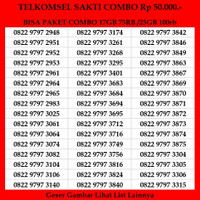 Kartu Perdana Telkomsel Sakti Combo 4G Nomor Cantik Simpati As Loop