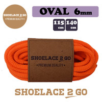 Shoelace 2 Go SO6-I1 [6mm] ORANGE Tali Sepatu Oval Lonjong PREMIUM