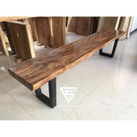 Bangku kayu panjang bench trembesi solid free ongkir