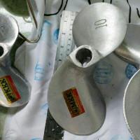 kipas propeller baling baling perahu kapal daun 2 no 10 alumunium