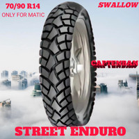Ban Motor Matic // SWALLOW SREET ENDURO 70/90 Ring 14 Tubeless