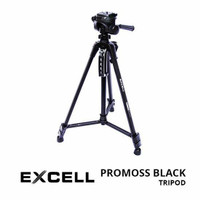 Tripod Excell Promoss Black For Camera DSLR And Mirroless