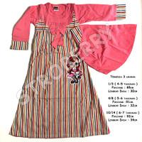 Gamis Anak Baju Muslim Murah Hijab Perempuan - kode 30 - 4-5 taunan, Biru