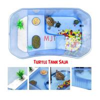 Turtle Tank S 25x17x11cm Vivarium Aquarium Wadah Kura RES Brazil Damer