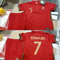 Jersey Baju Bola Kids Kid Anak Kecil Timnas Portugal Home Ronaldo 2021