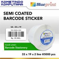 Sticker label Barcode 33x19mm 2 Line Semi Coated BLUEPRINT isi 5000Pcs