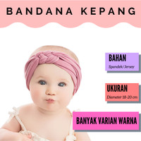 Headband Bayi Model Kepang / Bandana Bayi / Bando Anak
