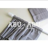 gorden polos/ model serut/bahan katun - Abu-abu, 115×200