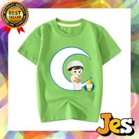 Baju Atasan / Kaos Anak Laki-laki Lebaran anak soleh biru 1-10 Tahun - 1 Tahun, Hijau