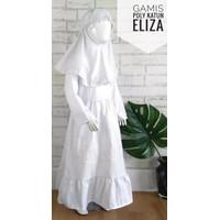 Gamis Putih Anak Perempuan Baju Manasik Anak Bahan Katun