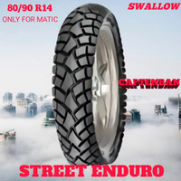 Ban Motor Matic // SWALLOW SREET ENDURO 80/90 Ring 14 Tubeless