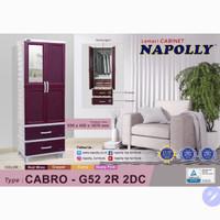 Lemari Baju Plastik Napolly Cabro - G52 2R 2DC, Rak Susun dan Gantung