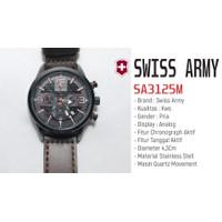 Jam Tangan SWISS ARMY SA3125M Black- Chrono Aktif