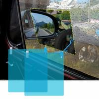 Stiker Kaca Film 2PCS Mobil Helm Spion Anti Air Hujan Embun Daun Talas