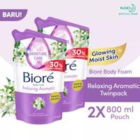 Biore Body Foam Sabun Mandi Cair Relaxing Aromatic Refill 800ml-isi 2