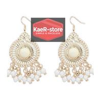 Daily Earrings Unik Anting Fashion Wanita Pesta - Putih