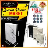 Kotak Kado |Kotak Kue| Kotak Hadiah | Kotak Murah | White Marble (B1)