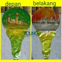 balon pentungan idul Fitri/balon tongkat foil idul Fitri