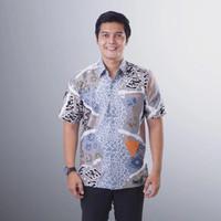 Baju Batik Pria Lengan Pendek Semy Tulis Modern Exclusive Casual BMP04