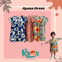 Baju Dress Daster Anak Perempuan Motif Murah Ayana Dress 1- 5 Tahun