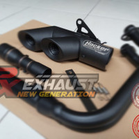 Knalpot Ninja 250 FI Karbu Z250 MT25 R25 Hacker Blackdope Underbelly F