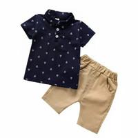 Baju Anak Laki Laki - Setelan Anak Laki Laki Marine Kid Umur 1-5 Tahun - Dongker, 4-5 tahun