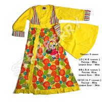 Gamis Anak Baju Muslim Murah Hijab Perempuan - kode 31 - 4-5 taunan, Biru