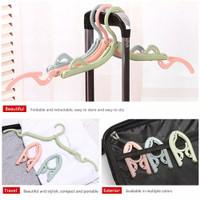 hanger lipat fortable outdoor travel gantungan baju lipat traveling
