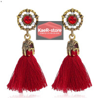 Daily Earrings Anting Fashion Daily Bohemian Style - Merah