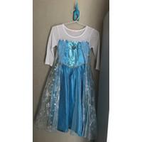 Baju anak dress princess elsa frozen kostum anak