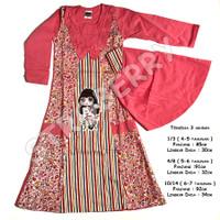 Gamis Anak Baju Muslim Murah Hijab Perempuan - kode 33 - 4-5 taunan, Biru