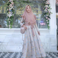 gamis syari trisha sheika hijab dress wanita fashion muslim syar'i
