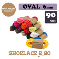 Shoelace 2 Go SO6 - 90cm [6mm] Tali Sepatu Oval Lonjong PREMIUM