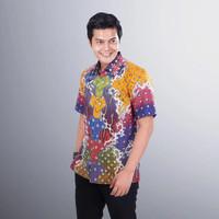Baju Batik Pria Lengan Pendek Tulis Lukis Modern Casual BMP20
