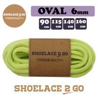 Shoelace 2 Go SO6-K1[6mm] LIGHT GREEN Tali Sepatu Oval Lonjong PREMIUM