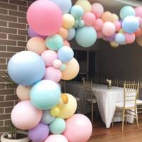 Balon Latex Karet Pastel Macaron 18 inch