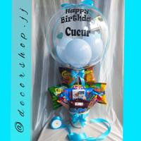 bucket snack box gift/Kado/Balon Snack/Bucket Snack/Kado Graduation