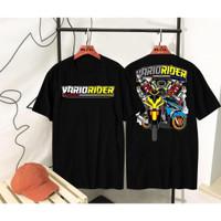 Kaos Pria Distro Rider Vario OP065 Fashion Pria Baju Pria - Hitam, L