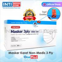 ONEMED - Masker Karet 3 Ply / Masker Non-Medis / Masker Earloop 3 ply