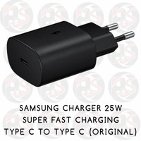 Samsung Charger Original 25W Super Fast Charging Type C to Type C - Hitam