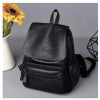 Ransel Stylish Ransel Wanita Kpop Style Backpack Kulit sintetis Lembut