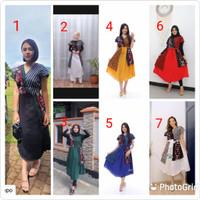 Dress Batik Andin Ikatan Cinta/baju batik wanita modern/batik wanita