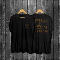 Kaos Pria Distro Republik Indonesia OP101 Fashion Pria Baju Pria - Hitam, L