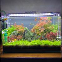 Jual Aquarium Aquascape 80x45 Recent Ultra Clear Full Set