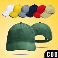 Topi Polos Hitam Distro Berkualitas Bahan Rafel Penyetel cakop dan - Putih