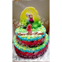 Kue Ulang Tahun Tema Frozen Dekorasi 2D