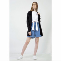 fashion in time baju wanita lengan panjang hitam size m