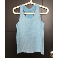 Giordano original sports tank top wanita biru muda